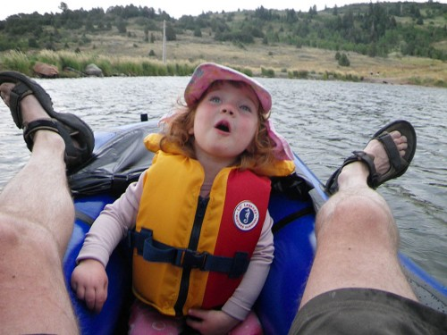 Packrafts - fun for adults, but kids love them too.  Mira on the Miracle.