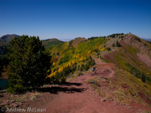 "The ""Red Spine"" section of the Wasatch Crest Trail."