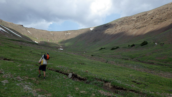 Heading over the 11,000+ foot high point of the trip.