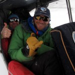 Andrew and Tyler gettin' cozy in a Cub.