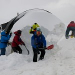 Digging out a hut at Port Lockroy.