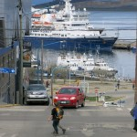 "The ""Sea Adventurer"" waiting for us at the dock in Ushuaia."