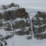 The view from the top of the Seitz Couloir is... more couloirs!