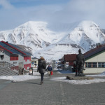 The town of Longyearbyen, the largest settlement on Svalbard and home to what is probably the farthest north commercial airport.  This is where you fly into to begin the skiing adventure.