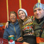 New friends at the Pyramiden bar.