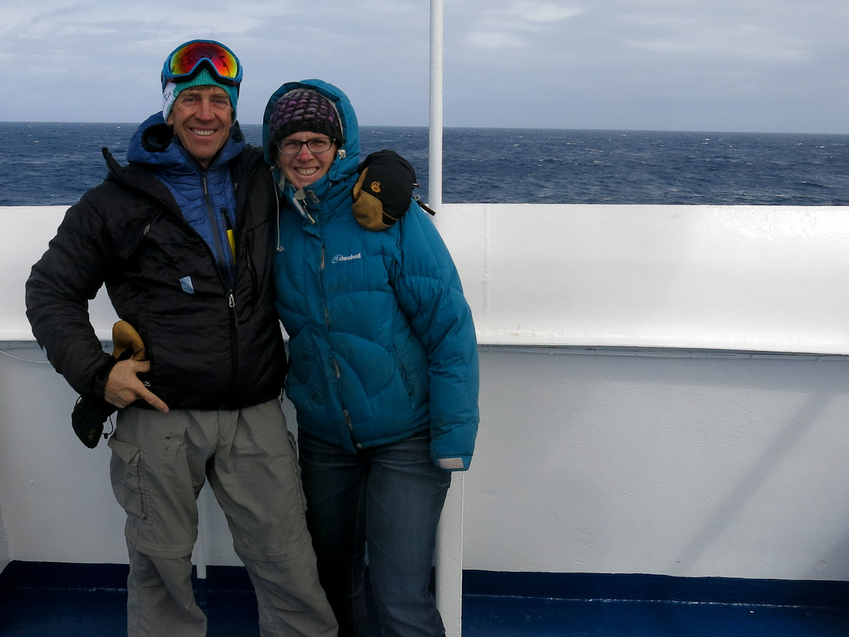 Polly B. in the Drake Passage!  It's not so bad, is it?